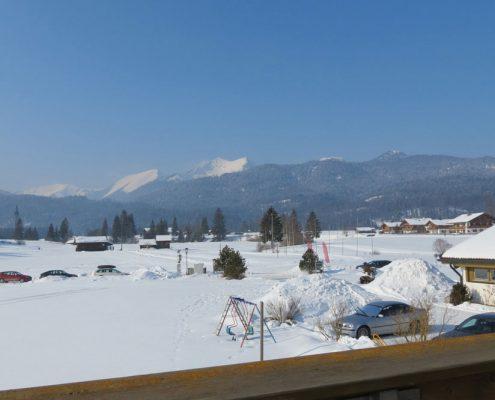 Ferienwohnung in Krün, Karwendel, Krottenkopf 5 ***** Sterne, Ausblick