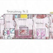 Ferienwohnung in Krün, Karwendel, Wetterstein 5 ***** Sterne, Grundriss