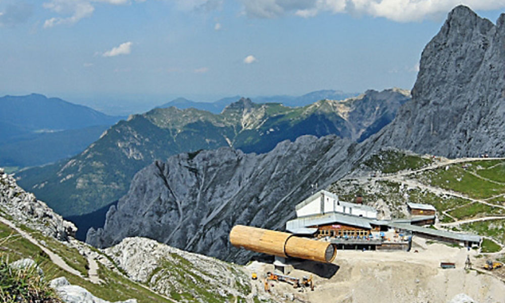 Karwendelgebirge - Panoramablick vom Gipfel