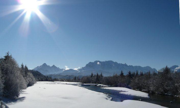 Die Isar im Winter
