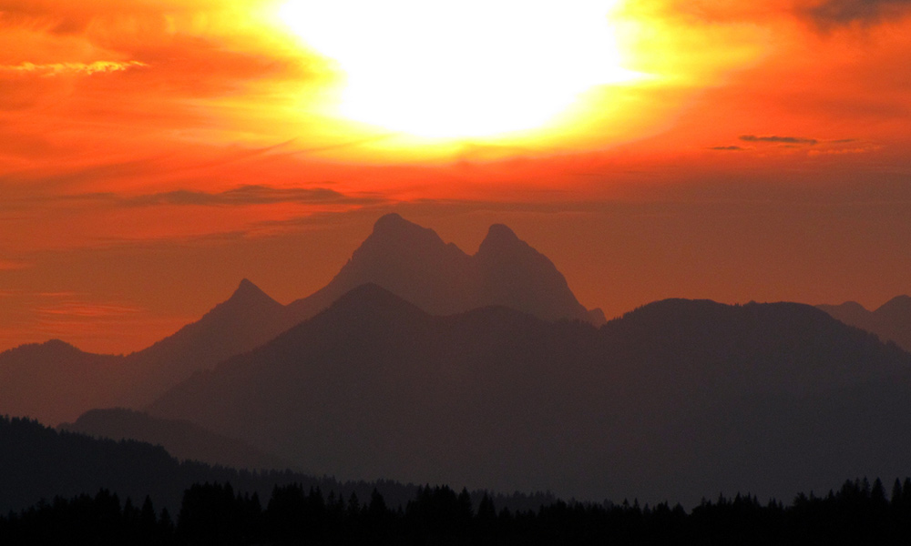 Sonnenuntergang im Karwendel