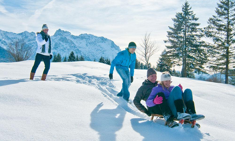 Winterurlaub mit Familie im Karwendel